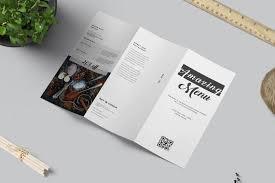 Tri Fold Food Menu Brochure Restaurant Food Menu Template Pizza Delivery Menu Instant Download Food Menu Tri Fold Minimal Brochure