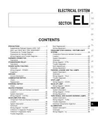 nissan maxima electrical system section el pdf manual 2003 nissan maxima electrical system section el 484 pages