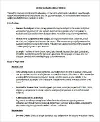 Evaluation Essay Examples Evaluation Essay Example 7 Samples In Word Pdf