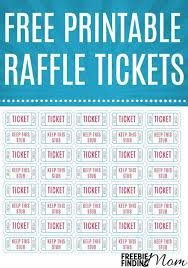 Free Printable Raffle Tickets Raffle Tickets Printable