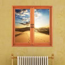 Artificial Window Desert 3d Artificial Window View 3d Wall Decals Sunset Room Pag