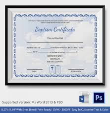 Sample Baptism Certificate Template Interesting 48 Sample Baptism Certificate Templates Free Sample Example