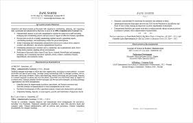 Resume Samples Administrative Resume Template Directory