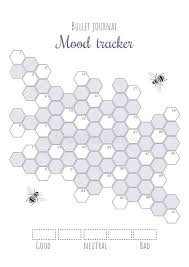 Printable Mood Tracker With Colored And Numbered Honeycombs