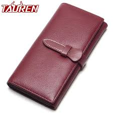 100 top level soft leather wallet women long wallets female genuine leather womens wallet card holders coin purse kids wallets wallets for girls from