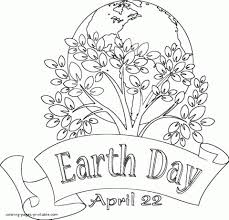 Printable Earth Day Coloring Pages Elitflat