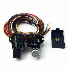 street rod wiring harness us 12v 10circuit basic wire harness fuse box street hot rat rod wiring car truck