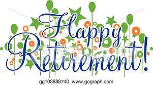 retirement banner clipart eps vector happy retirement banner or sign stock clipart
