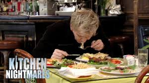 gordon spits out disgusting microwaved food from lying chef