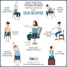 here are some of the most effective yoga poses that you can do at your desk or office