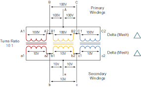 three phase transformer connections and basics Standard Power Transformer Connection Diagram delta delta transformer connections Single Phase Transformer Wiring Connections
