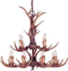 savoy house blue ridge antler chandelier 1 40025 12 56