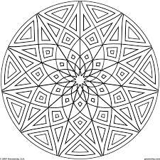 Kaleidoscope Coloring Pages Geometrip Com Free