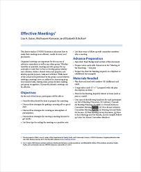 12+ Effective Meeting Agenda Templates – Free Sample, Example Format ...