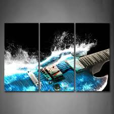 Amazon.com: Guitar In Blue And Waves Looks Beautiful Wall Art Painting The  Picture Print On Canvas Music Pictures For Home Decor Decoration Gift:  Posters & ...