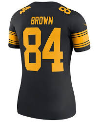 Steelers Legend Rush Color Pittsburgh Antonio Jersey Women's Brown
