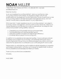 Cover Letter Examples For Resume With No Experience Cover Letter for No Experience Beautiful Best Accounting assistant 87