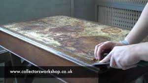 Restoring Antique Leather How To Replace A Leather Desk Top Part 1 Preparation Youtube