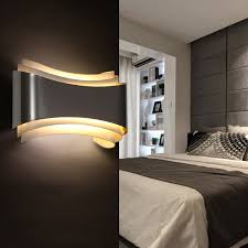 wall lighting bedroom. Modern-led-sconce-wall-lights-for-bedroom-study- Wall Lighting Bedroom