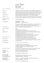 Bar Staff Cv Sample Dining Restaurant Resume Job