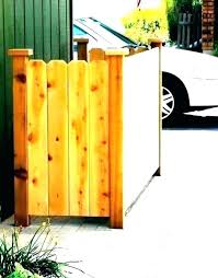 metal trash can fence daft punk shed storage outdoor garbage home depot small wooden bin schedule