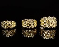 Men's nugget rings | Etsy