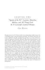 "spawn of the pit""  lavinia  marceline  medusa  and all things foul    new critical essays on h p  lovecraft new critical essays on h p  lovecraft"