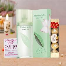 elizabeth arden green tea perfume rakhi return gift her for women