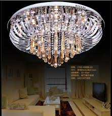 2018 large ceiling lights for living room modern crystal ceiling light foyer surface mounted led ceiling lamp crystal hanging light modern from britlighting