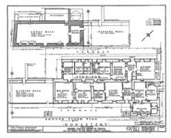 Layout Of The San Diego Mission  San Diego De Alcala  Mission Mission San Diego De Alcala Floor Plan