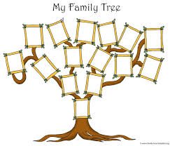 Family Tree Templates Kids Free Family Tree Blank Template For Kids Printable Artistic The