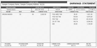 Pay Check Stub Template Stanley Tretick