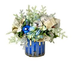 Creative Displays And Designs Inc Cdho350 Hanukkah Arrangement With Green And Blue Hydrangeas