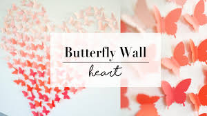 youtube premium on wall art diy youtube with diy paper butterfly wall art decor wedding ideas ann le youtube
