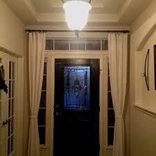front door curtains. Hang Curtains Around The Front Door To Close At Night For Added Privacy! Love That
