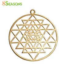 2019 8seasons copper sri yantra meditation pendants round gold color hollow 39mm1 4 8 x 35mm1 3 8 from starch 24 21 dhgate com