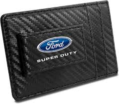 The ford service credit card is there to make ford servicing more affordable, to give you more financial flexibility, and to provide extra benefits that you would not get at a standard servicer. Amazon Com Ford Super Duty Black Carbon Fiber Leather Wallet Rfid Block Card Case Money Clip Clothing