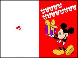 Free Printable Mickey Mouse Birthday Cards Luxury