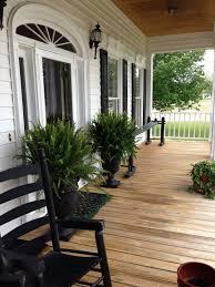 Black And White Patio Design Ideas Black And White Porch Farmhouse Front Porches Front Porch