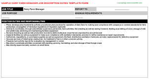 Dairy Farm Manager Job Descriptions | Careers Job Descriptions ...