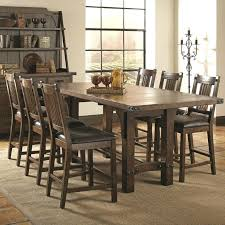 distressed wood chairs dining furniture unfinished and metal table from kitchen