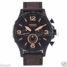 mens fossil watch leather fossil original jr1487 men s nate brown leather watch 50mm