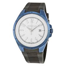 versace watches jomashop versace v man white dial black rubber men s watch