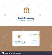 Villa Logo Design Flat Villa Logo And Visiting Card Template Busienss Concept
