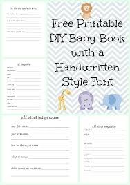 Baby Photo Album Books Make A Diy Baby Book With A Handwritten Style Font With Free