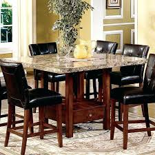 elegant round granite dining table set for high end and sophisticated visual black chairs granite kitchen table sets
