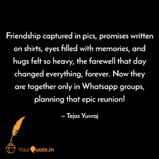 Friendship Captured In Pi Quotes Writings By Tejas Yuvraj
