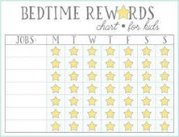 Bedtime Reward Chart Bedtime Reward Chart For Kids Sticker Rewards Chart For Kids