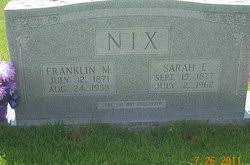 Franklin Marion Nix (1871-1938) - Find A Grave Memorial