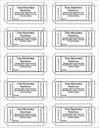 tickets template free printable raffle tickets template template business